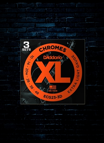 D'Addario ECG23 XL Chromes Flat Wound Strings (3 Pack) - (10-48)