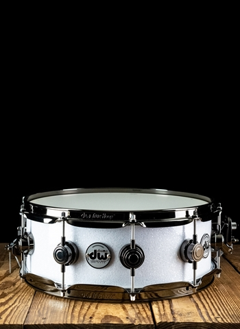 "DW 5""x14"" Collector's Series Snare Drum - White Glass"