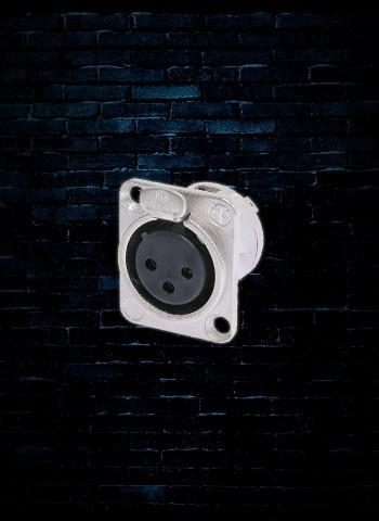 """Neutrik NC3FD-L-1 XLR /""""D/"""" Series Panel Mount Female Nickel"""