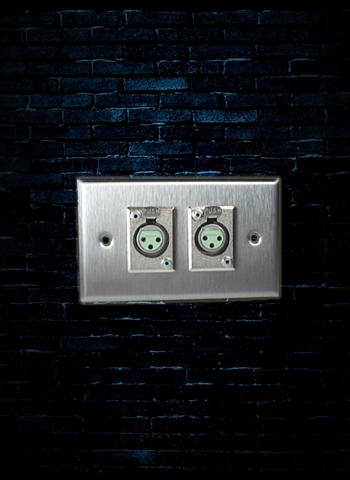 Rapco SP-2DFS Single Gang Wall Plate with 2 Switchcraft D3F