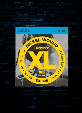 D'Addario EXL125 XL Nickel Wound Strings - Super LT Top/Reg Bottom (9-46)