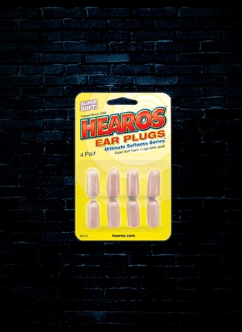 Hearos Ultimate Softness Ear Filters 32dB NRR - 4 Pair