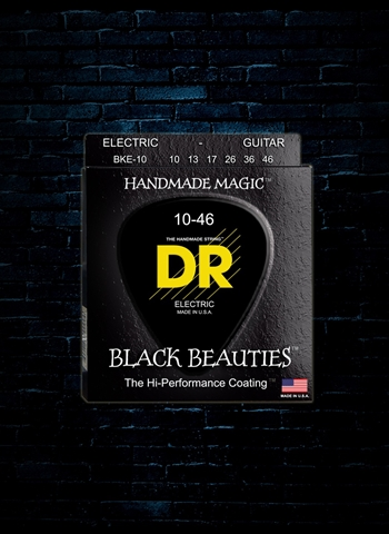 DR BKE-10 - K3 Black Beauties Electric Strings - Medium (10-46)
