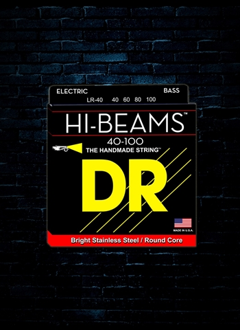 DR LR-40 Hi-Beam Stainless Steel Bass Strings - Lite (40-100)