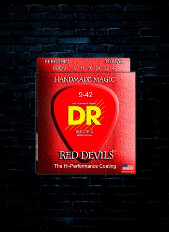 DR RDE-9 K3 Red Devils Electric Strings - Lite (9-42)
