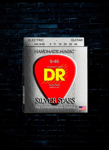DR Strings SIE-9 - K3 Silver Stars Electric Strings - Lite (9-42)