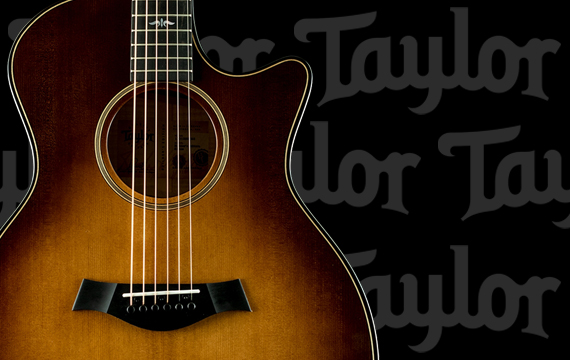 2 Taylor Guitars Decals by SBDdecals.com